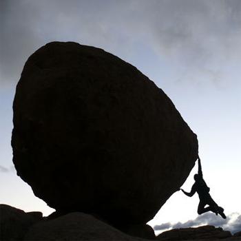 Romain bouldering in Joshua Tree, CA © Weleda Sport
